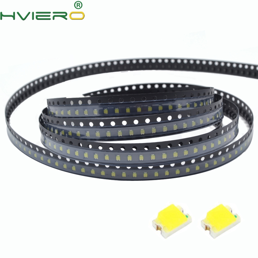 100pcs 0805 White Red Green Blue Yellow SMD SMT Emitting Diodes Bright 20mA LED Lamp Highlight Light Diode LED Light Beads