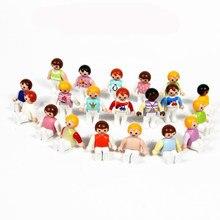 1pc original playmobil bebê figura de ação boneca 3cm fille enfant pvc modelo aleatoriamente playmobil figura boneca brinquedos do bebê