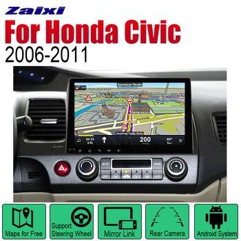 ZaiXi Auto Player GPS Navigation For Honda Civic 2006~2011 Car Android Multimedia System Screen Radio Stereo