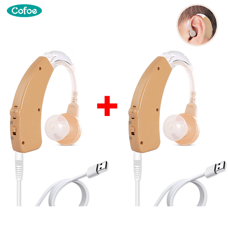Cofoe A Pair Hearing aid Mini Rechargeable BTE Hearing aids Sound Amplifier USB Hearing Amplifier For The Elderly Both Ears Hear|Hearing Aids|   - AliExpress