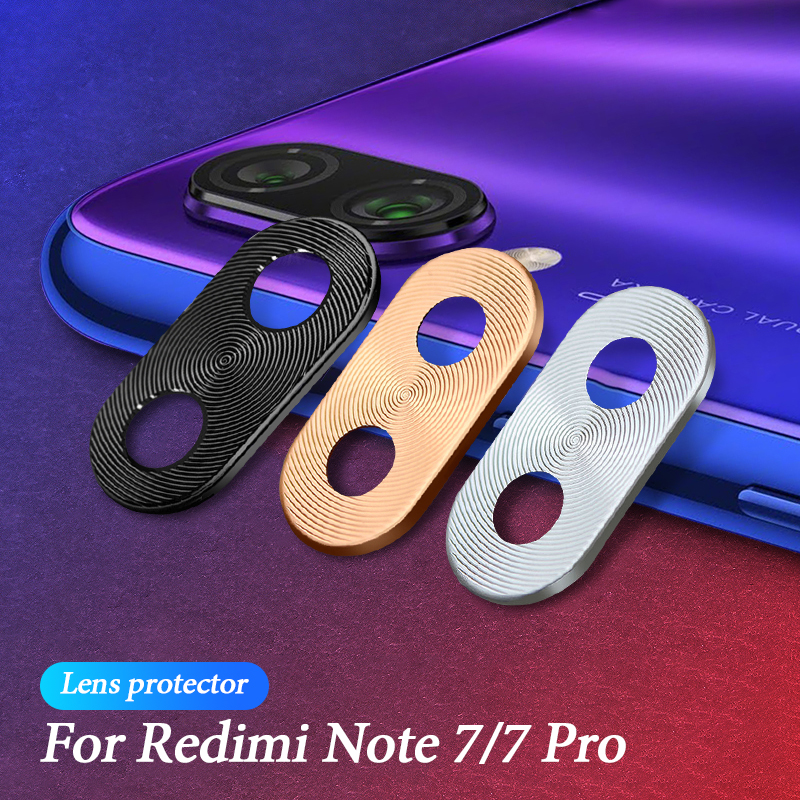 Colorful For Redmi Note 7 Luxury Camera Lens Protector Ring Plating Aluminum For Xiaomi Redmi Note 7 Pro Camera Case Cover Ring