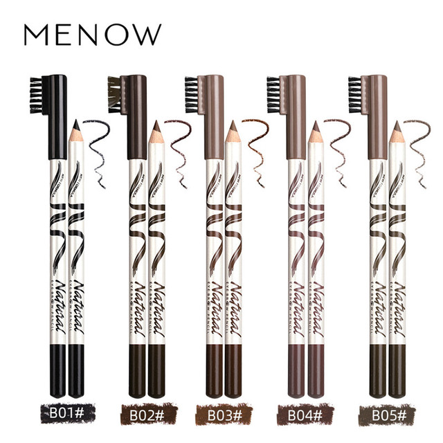 1Pcs eyebrow Waterproof Black Brown Coffee Eyebrow Tattoo Pencil Long-lasting Eyebrow Enhancer with Brush Makeup Cosmetic Tools 2