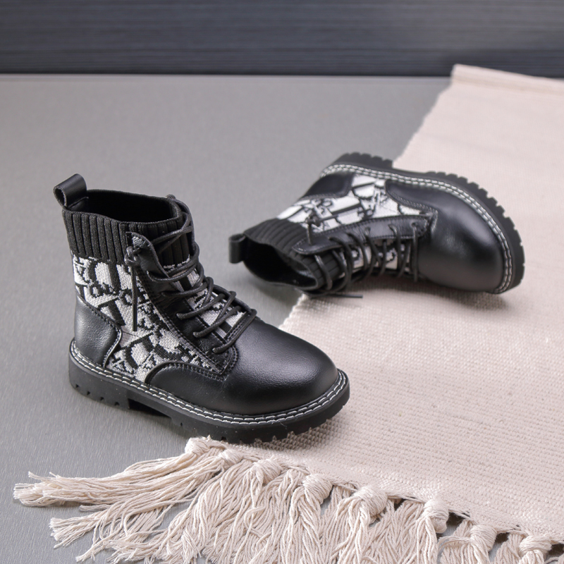 Kids Martin Boots Girls Soft Sole Leisure Ankle Boots Children Boys Warm Non-slip Safe Comfortable Wear Resistant  SGF024