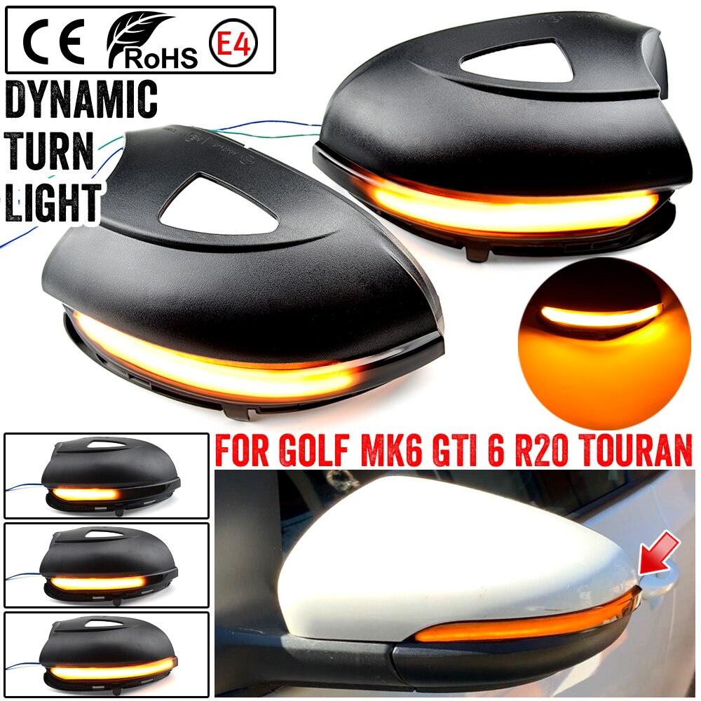 Для Volkswagen VW GOLF 6 VI MK6 GTI R line R20 Touran светодиодный светильник с динамическим поворотом мигающий светильник
