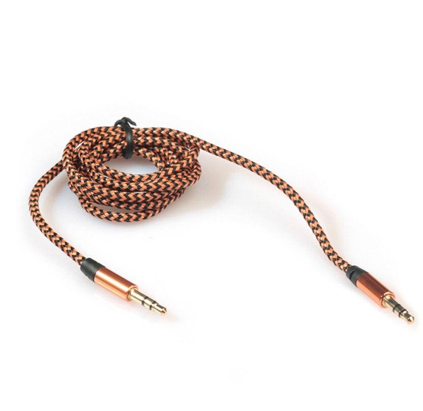 3,5 мм стерео автомобильный вспомогательный аудио кабель папа-папа для смартфона Aux вспомогательный звук стерео аудио данных 3,5 мм кабель 909 - Название цвета: E