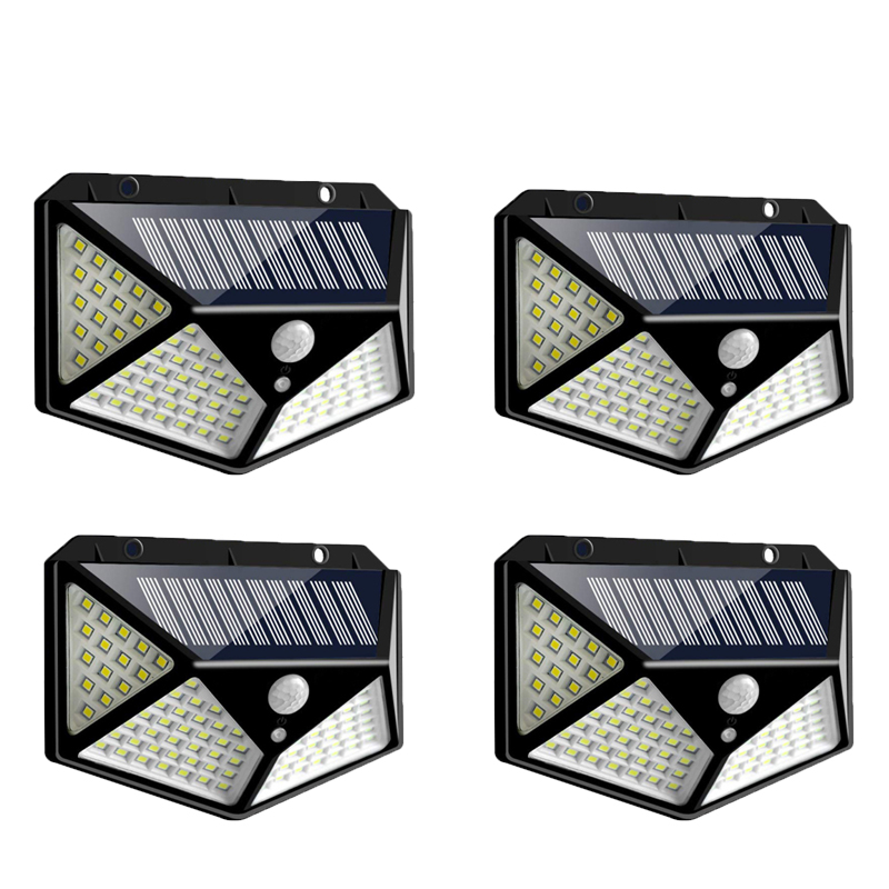 Outdoor Solar Lamp Waterproof PIR Motion Sensor Wall Light 100 LED Solar Power Light Energy Saving Garden Security Lamp