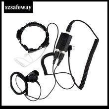 ה FBI כבד החובה טקטי צבאי גרון מיקרופון אוזניות עבור Baofeng UV 5R עבור Kenwood KG UVD1UV 8hx TYT TH UV8000d PX 777