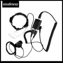 FBI Heavy Duty Tactical Military Throat MIC Headset For Baofeng UV 5R For Kenwood  KG UVD1UV 8hx TYT TH UV8000d PX 777