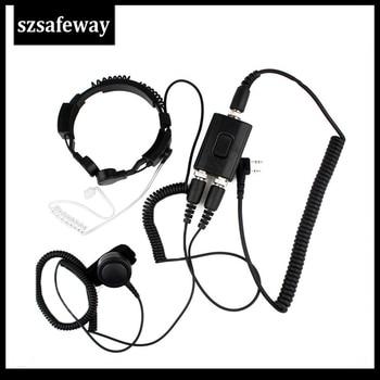 FBI Heavy Duty Tactical Military Throat MIC Headset For Baofeng UV-5R Kenwood  KG-UVD1UV-8hx TYT TH-UV8000d PX-777 - discount item  10% OFF Walkie Talkie Parts & Accessories