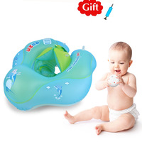 Baby Swimming Ring Inflatable Kids Float Swim Pool Accessories Buoy Double Raft Infant Swim Trainer Safety Circle Floating