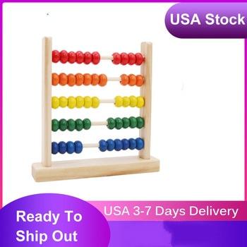 Juguetes De Ábaco de madera para niños, Calculat Bead, desarrollo de inteligencia, Matemáticas tempranas, juguete educativo de aprendizaje de Color al azar