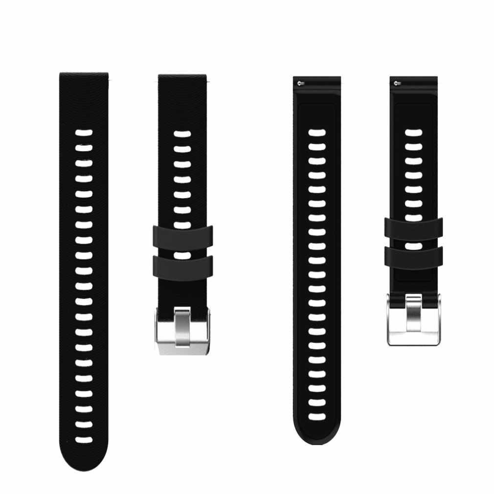 Para jiaming samsung huawei huami ticwatch 20mm universal silicone smartwatch ondulado substituição cinta fivela de aço