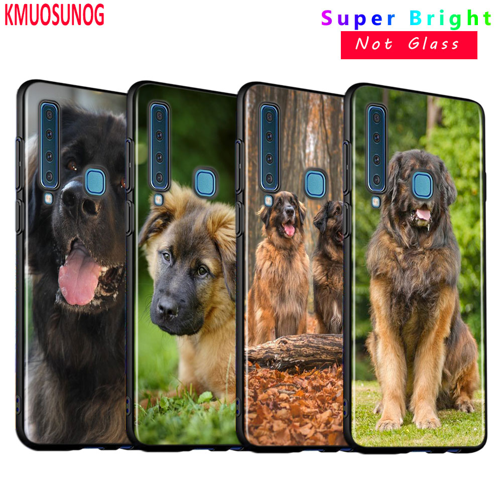 Black Silicone Cover Leonberger <font><b>dog</b></font> for <font><b>Samsung</b></font> <font><b>Galaxy</b></font> A9 A7 2018 A8 A6 Plus A5 <font><b>A3</b></font> Star <font><b>2017</b></font> 2016 <font><b>Phone</b></font> <font><b>Case</b></font> image