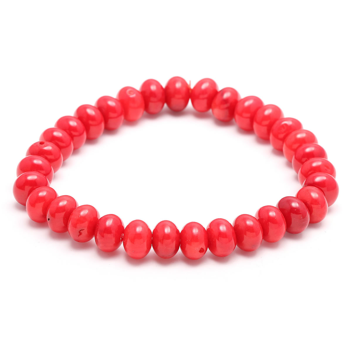 Wholesale New Hot Coral Stone Beads Bracelets Bangles for Women Charms Jewelry 5 Shapes Natural Coral Beaded Bracelet Gift 18cm in Strand Bracelets from Jewelry Accessories
