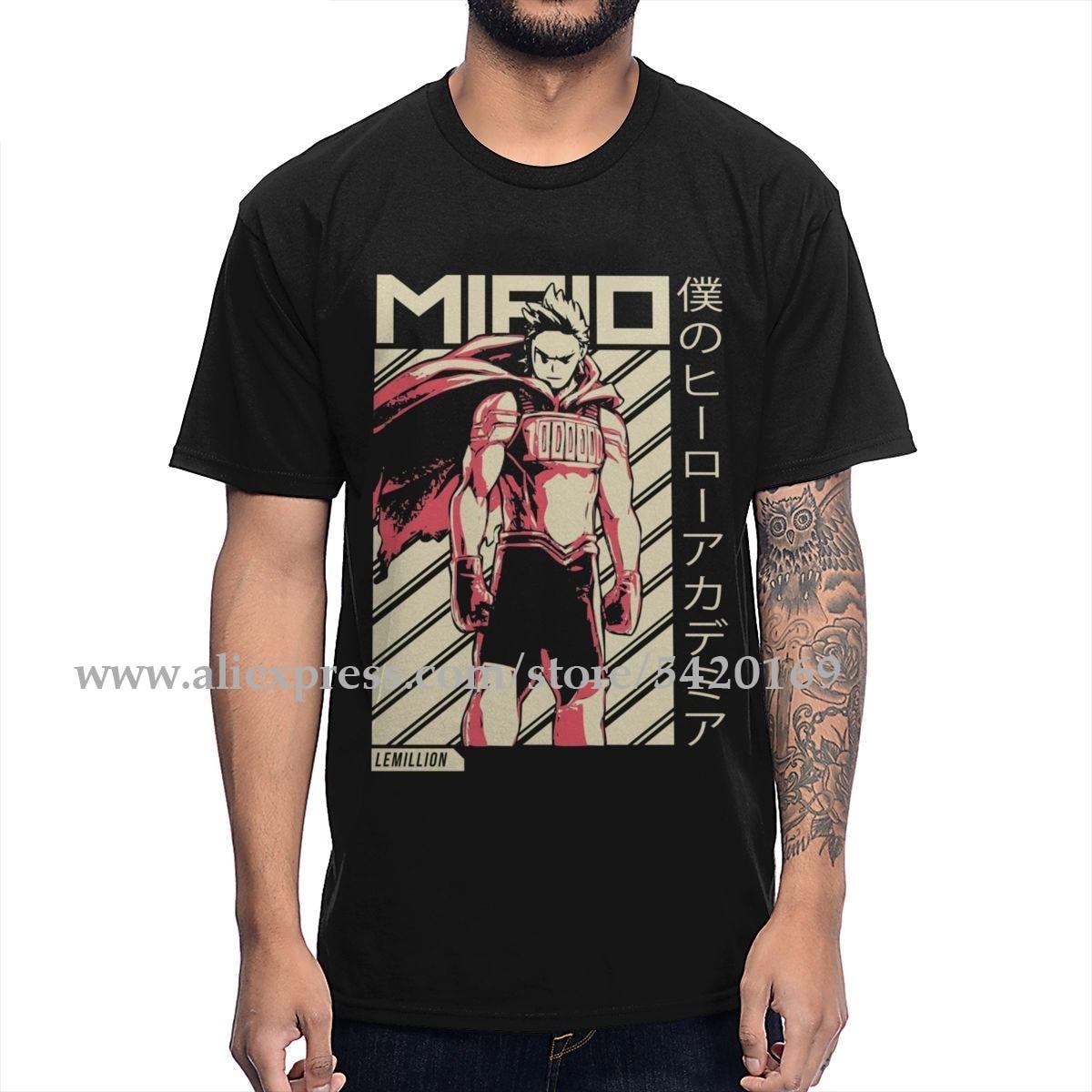 Funny Boku No Hero Academia Season 3 Mirio Togata Million T Shirt Man Streetwear Organic Cotton Soft Cotton Plus Size T-shirt