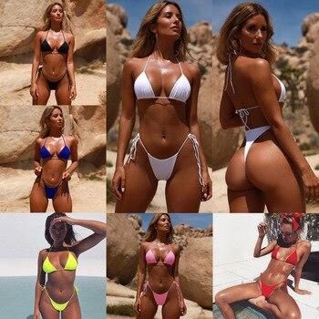Sexy Bikini Women Luxury Swimsuit Halter Push Up Swimwear Female Brand Brazilian Bathing Suit Beach Wear Swimming Suit Biquini 1