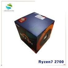 חדש AMD Ryzen 7 2700 R7 2700 3.2 GHz שמונה ליבות Sinteen חוט 16M 65W מעבד מעבד YD2700BBM88AF שקע AM4 עם למעבד מאוורר