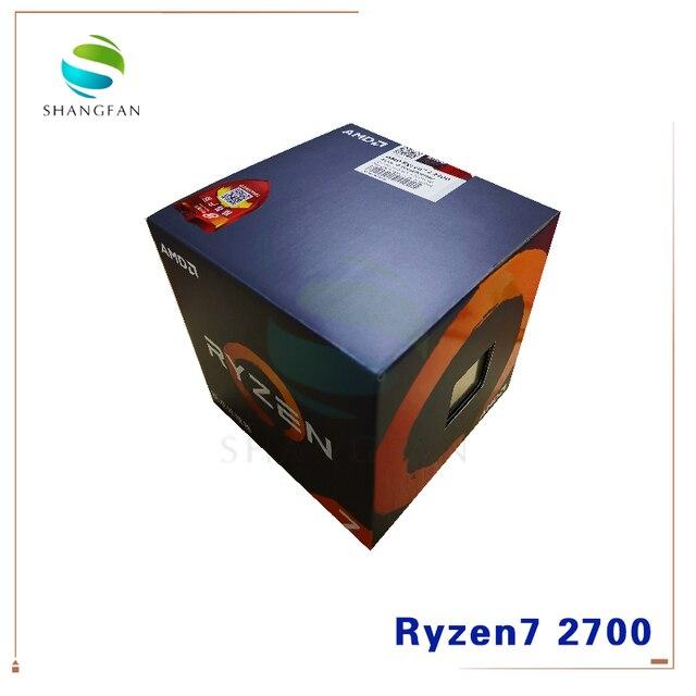 جديد AMD Ryzen 7 2700 R7 2700 3.2 GHz ثماني النواة سنتين الموضوع 16 متر 65 واط معالج وحدة المعالجة المركزية YD2700BBM88AF المقبس AM4 مع مروحة تبريد
