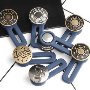 Выдвижная кнопка для джинсов, регулируемая съемная удлиненная кнопка для одежды, пряжка для ремня для джинсов для мужчин и женщин, Новое пос...