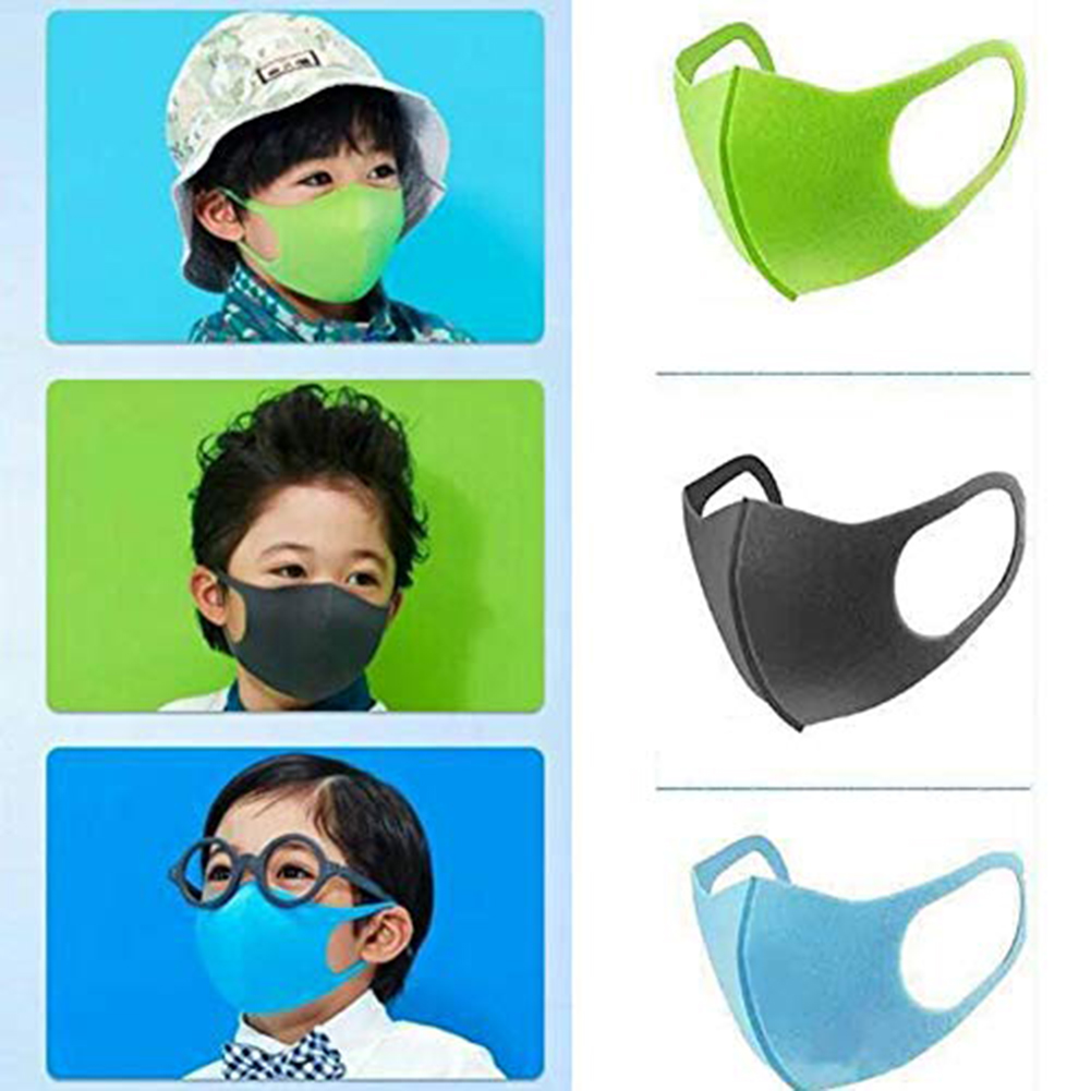 Kids Cartoon Protective Mask PU Sponge PM2.5 Mouth Muffle Cover Children Breathable Washable Dustproof Anti-fog Respirator