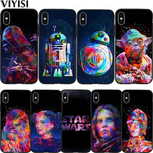 Star Wars Phone Case For iPhone 7 case iPhone X XS XR MAX 8 6 6S Plus 5 5s SE Etui Funda Coque Black Soft Silicone TPU Cover(China)