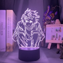 Manga Death Note L Lawliet Figure Led Night Light for Anime Room Store Decor Idea Cool Kids Child Bedroom Table Lamp Ryuk Figure