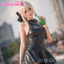 Dokidoki-r anime cosplay fate/stay night arturia pendragon alter sabre cosplay fate fato de banho feminino traje
