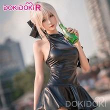 Dokidoki-r anime cosplay fate/stay night arturia pendragon alter sabre cosplay fate fato de banho feminino traje