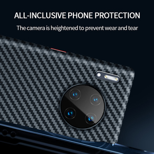 Image 2 - Grma Echte Pure Carbon Fiber Telefoon Back Cover Voor Huawei P40 P30 Mate 30 Pro Case Ultra Dunne Anti Vallen shockproof Telefoon Cover