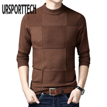 URSPORTTECH Brand Mens Sweater Long Sleeves Streetwear Winter Christmas Sweater Men Pullover Men Cashmere Turtleneck Pull Homme