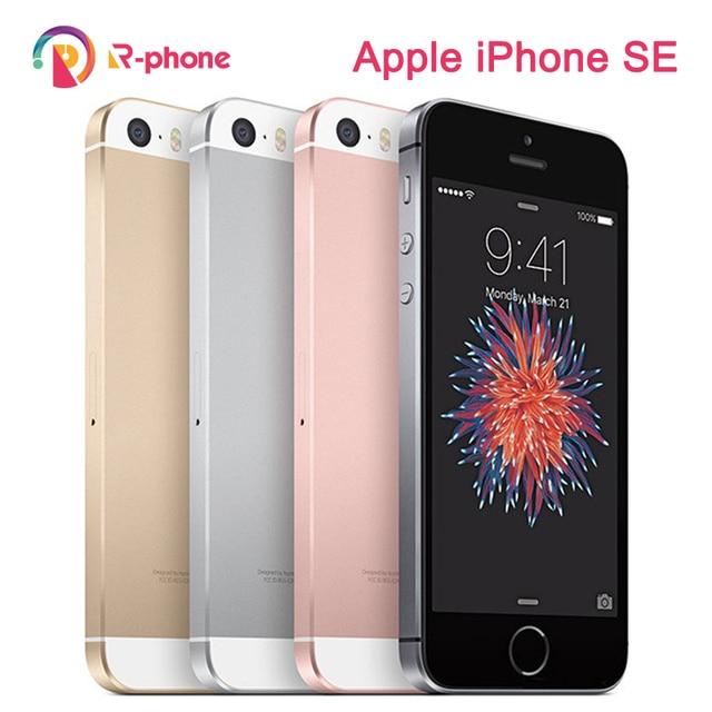 "Original Apple iPhone SE Used 99% New 4G LTE Mobile Phone 16GB 32GB 64GB 4.0"" 12MP Wifi Unlocked Cellphone 1"