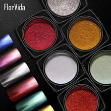 Florvida 2g Nail Art Glitter Mirror Powder 16 colors Chrome Pigment for Nails