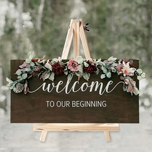 HUIRAN Wooden Blackboard Rustic Wedding Love Decor weeding Decorations for Weddings Mariage Decor Weding Vintage Party Decor cheap CN(Origin) Wedding Engagement Valentine s Day Anniversary