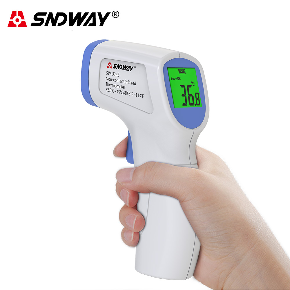 Digital Infrared Thermometer Non-Contact Baby Forehead Ear Adult Body Surface Fever IR Children Temperature Meter Gun Termometro
