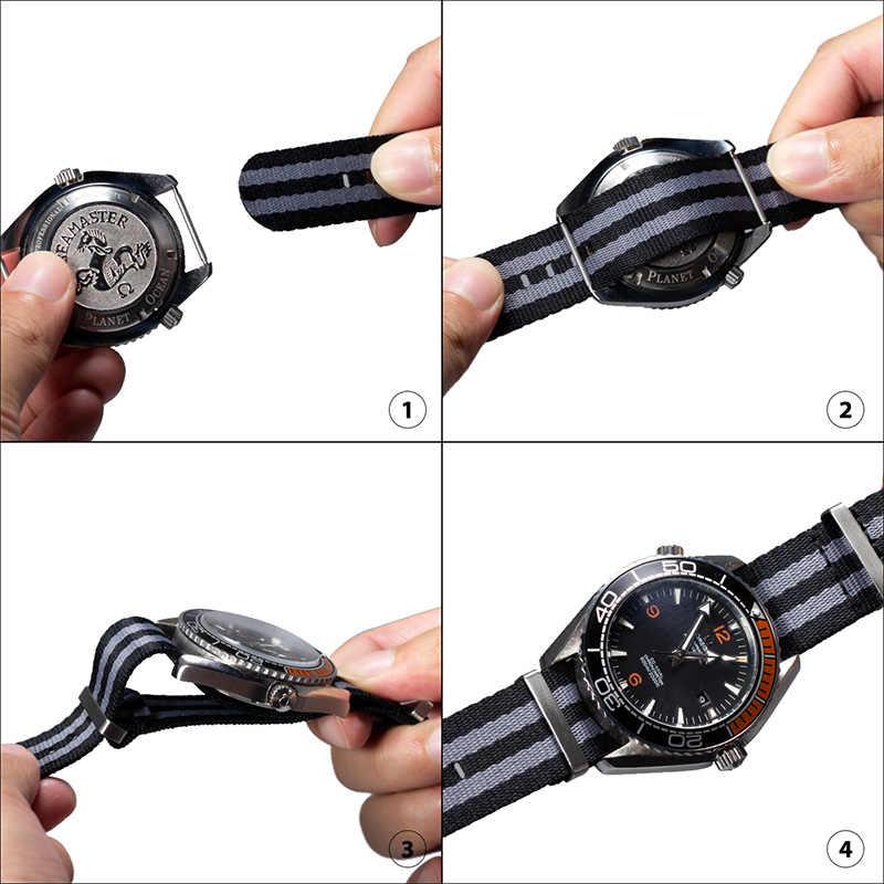 ONEON جديد 20 مللي متر 22 مللي متر الناتو حزام نايلون حزام استبدال الفرقة ساعة اكسسوارات ، شراء 1 الحصول على واحد ، يمكن الحصول على قطعتين حزام ساعة اليد