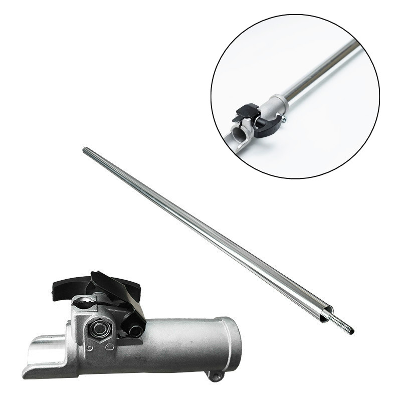 High Branches Chain Saw 75CM Extension Pole Aluminum 26mm 28mm Tube 7 9 Teeth Shaft Quick Connector for Garden BrushCutter