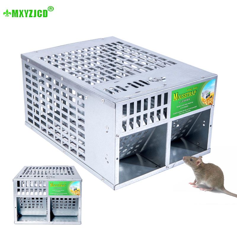 Double-door High-efficiency Mousetrap Household Large Space Automatic Mousetrap Device Can Reuse Rodent Killing Tool