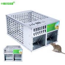 Mousetrap, porta dupla de alta eficiência, uso doméstico, grande espaço, dispositivo bocal automático, pode reusar, ferramenta de matar roedores