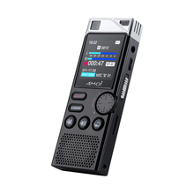 Amoi A80 Professional Dictaphone HD noise reduction voice activated Dual mic recorder lossless HIFI player business meeting