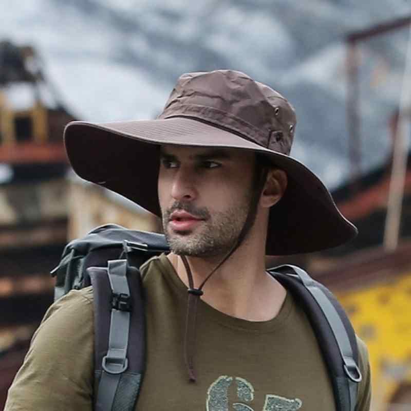 1X Angeln Kappen Außen Tragbare Breite Anti-Sonnen Uv Schutz Hut Erwachsene D8S9