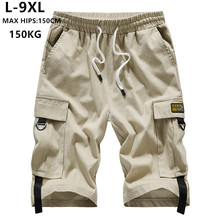 Summer Shorts Men Cargo Brand Short Bermuda Hombre 6XL 7XL 8XL 9XL Mens Corto Hip Hop Hiphop Boys Cotton Casual Teenagers Ropa