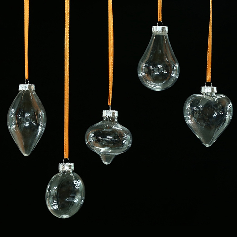 Desain Romantis Dekorasi Natal Bola Transparan Dapat Membuka Plastik Natal Jelas Perhiasan Ornamen Hadiah Tahun Baru Ornamen Bola Aliexpress