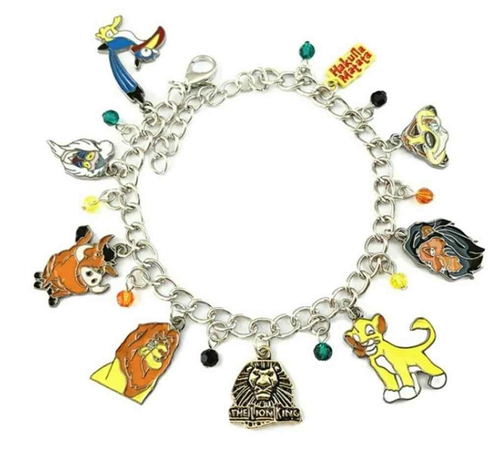 חם וחדש למכור את מלך אריות סימבה אופי נושאים מתכת קסם צמיד