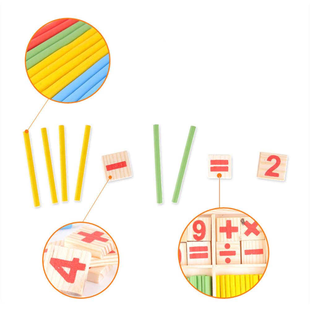 Números de madera letras que cuentan palos de inteligencia matemática bloques de construcción tarjetas de números de madera y varillas de recuento #10