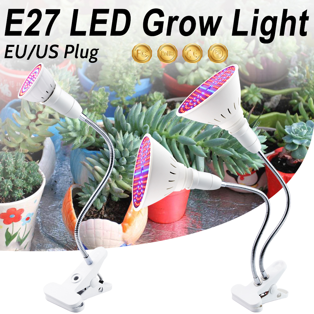 LED Phyto Lamp Full Spectrum LED Grow Light E27 Plant Light LED Horticole For Indoor Seedlings Flower Fitolampy Grow Tent Box