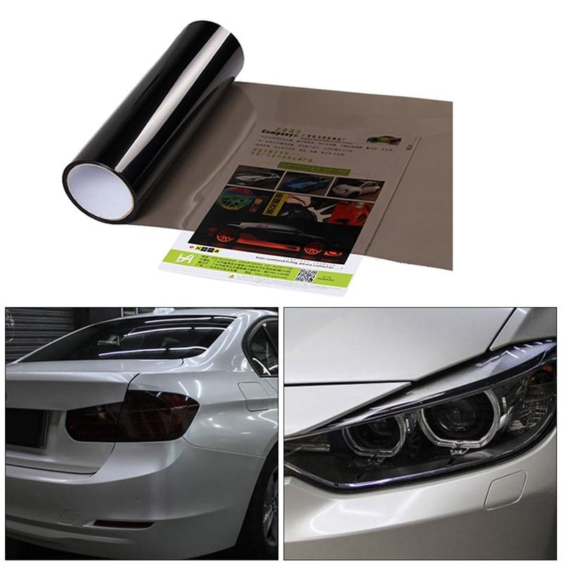 Phare arrière de voiture, feu antibrouillard, Film de teinte translucide, de protection imperméable en vinyle, autocollant, 30x100cm
