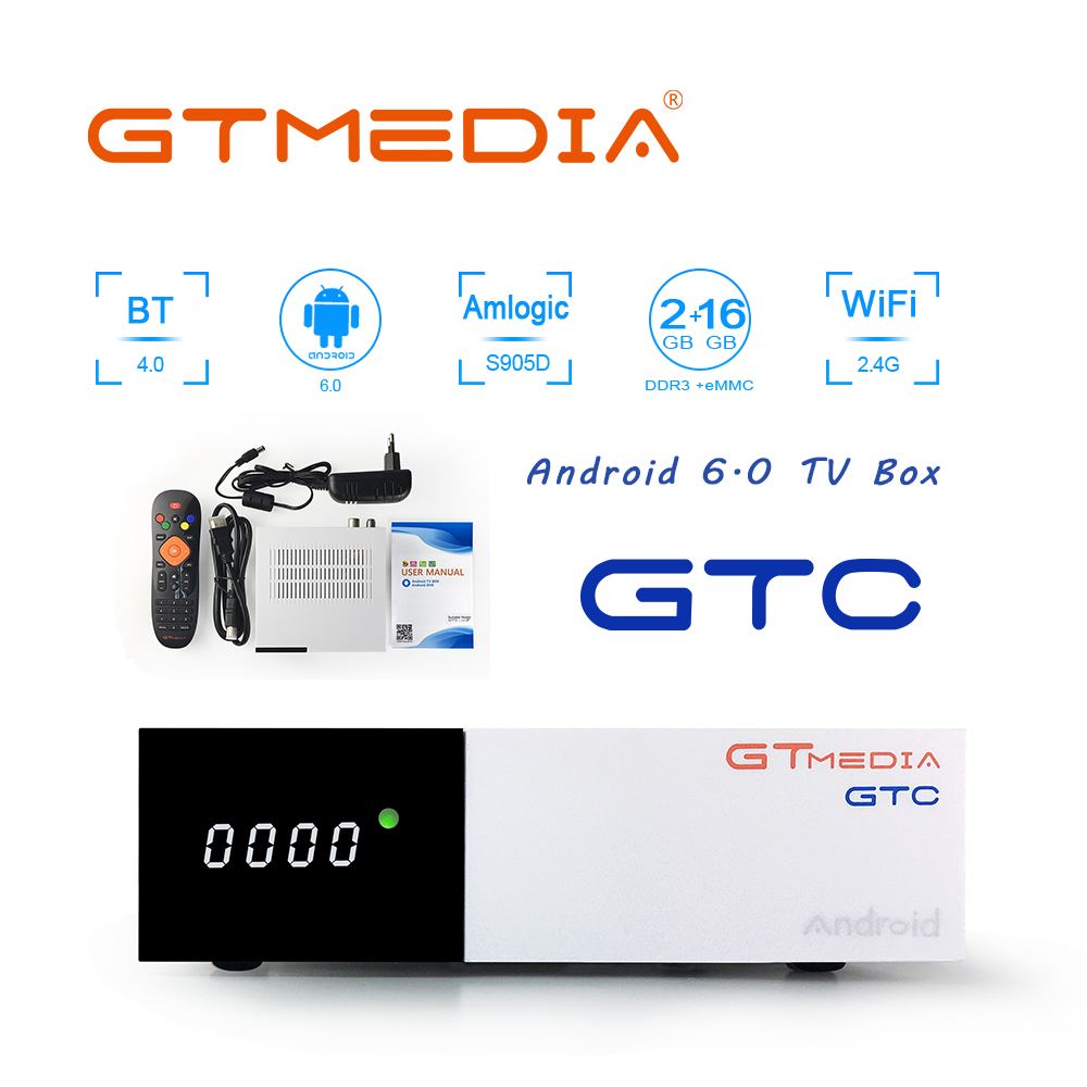 Freesat/GTmedia GTC Satellite Receiver DVB-S2/T2/Cable ISDBT android 6.0 support IPTV Netflix cccam Youtube wifi decoder PK H96