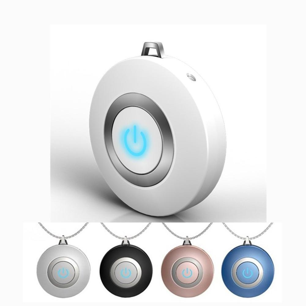 DropshipPersonal Air Purifier Necklace Usb Portable Air Purifier Wearable Mini Negative Ion Air Freshener No Radiation Low Noise