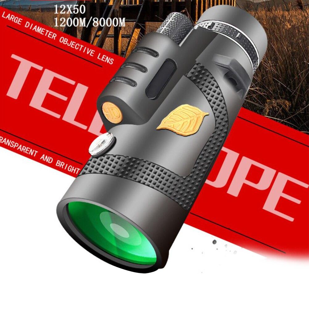 Telescópio monocular 12x50 telescópio totalmente revestido óptica