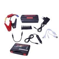 Eu Plug 16800Mah 4Usb Multi Function 12V Car Jump Starter Power Bank Rechargeable Battery Portable Car Jump Starter Booster Batt   -